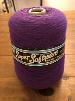 FORSELL SUPER  SOFTWARE 4ply KNITTING WOOL - CLEMATIS PURPLE.  • 7£