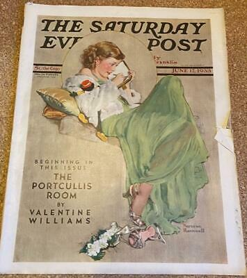 $ CDN31.50 • Buy SATURDAY EVENING POST Magazine June 17 1933 Norman Rockwell Cover!