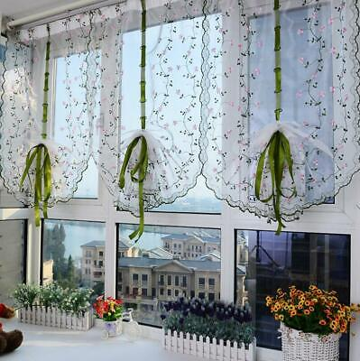 Window Curtains For Living Room Floral Sheer Tulle For Bedroom Modern Drapes • 7.58£