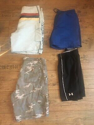 Mens Airwalk Underarmour & Swimming Shorts Bundle Large Cargo Sports Designer • 10£
