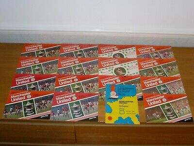 1977/78***7 Numbered Tokens Intact***19 Out Of 25  Manchester United Programmes • 10£