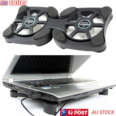 AU13.30 • Buy Foldable USB Cooler Cooling Pad 2 Fan Radiator Rack For 14inch Laptop Notebook