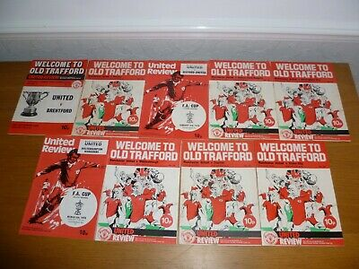 1975/76***8 Numbered Tokens Intact***9 Out Of 27  Manchester United Programmes • 7£