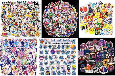 Nintendo/ Disney/ Mario/Pokemon Laptop Car Mobile Phone Collectible Sticker • 6.89£