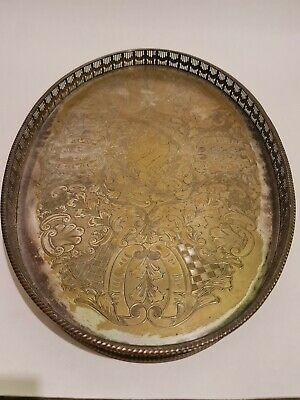 £24.99 • Buy Alpha Plate Vintage Silver Tray Viners Of Sheffield Cutlers Company 1836 Chased