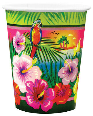 Luau Party Supplies, Cups, Plates, Napkins • 3.58£