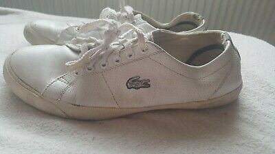 Lacoste White Trainer Shoes Ladies Size 5 • 12£