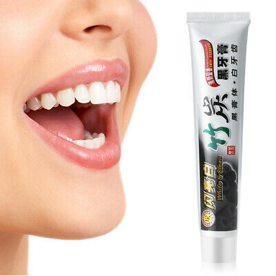 AU7.19 • Buy Bamboo Charcoal Black Toothpaste Teeth Whitening Remove Stains White 100g