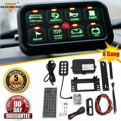 AU177.54 • Buy 8 Gang ON-OFF Green Switch Control Panel Electronic Relay System For Jeep Toyota
