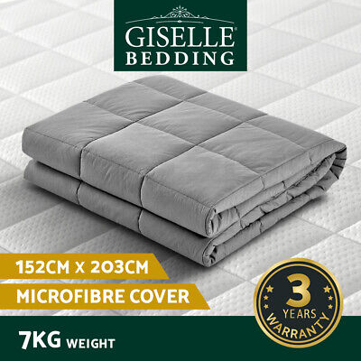 AU66.90 • Buy Giselle Weighted Blanket 7KG Adult Heavy Gravity Blankets Deep Relax Calming