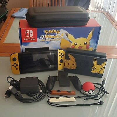 $ CDN749 • Buy Nintendo Switch Console Let's Go Pikachu! + Poke Ball Plus Edition With Case