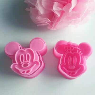 £4.99 • Buy Mickey Mouse And Minnie Mouse Cookie Cutters Stamp Biscuit Mould Fondant Baking