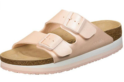 Birkenstock Papillio ARIZONA Icy Metallic Light Rose Platform 1015870 US 7 EU 38 • 62.22£