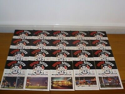 1985/86**price Is For 20 Programmes**20 Out Of 28**manchester United  Programmes • 11£