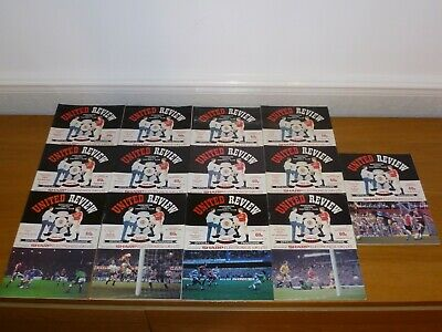 1988/89***10 Numbered  Tokens Intact***14 Out 29 Manchester United Programmes • 9£