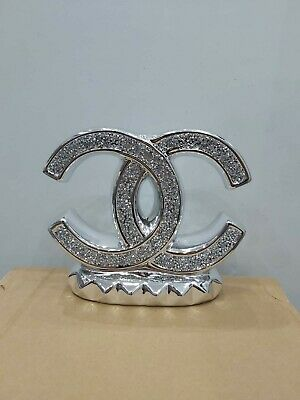 Crushed Crystal Diamond Silver Bling Ornament Shelf Sitter Mantle Piece NEW S • 19.99£