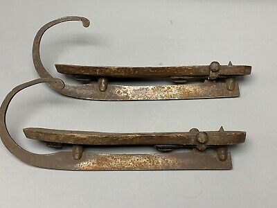 $ CDN63.52 • Buy Antique 1800's Wood Ice Skates W/ Hand Forged, Curl Front Blades New Jersey 1858