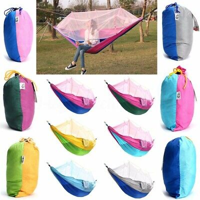 Double Person Hammock Tree Patio Bed Swing+Mosquito Net For Outdoo • 23.73£