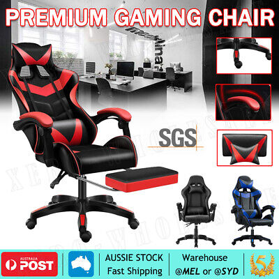 AU98.99 • Buy Gaming Chair Office Executive Computer Chairs Seating Racing Recliner Footrest