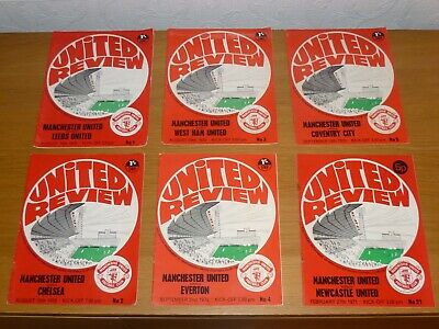1970/71***6 Numbered Tokens Intact***6 Manchester United Programmes  • 8£