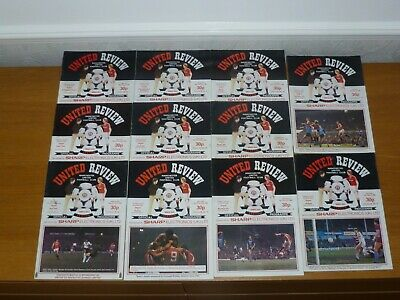 1983/84***14 Numbered Tokens Intact***15 Out 27 Manchester United Programmes • 12£