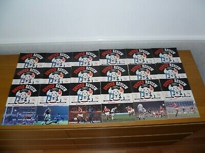 1989/90***7 Numbered Tokens Intact***18 Out Of 21  Manchester United Programmes  • 11£