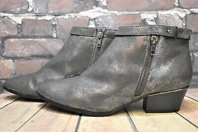 £14.99 • Buy Womens Limited Edition Grey Leather Zip Up Low Heel Ankle Boots UK 6 EUR 39
