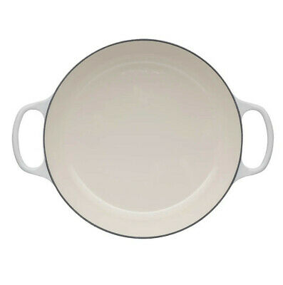 New Le Creuset Signature Cast Iron Shallow Casserole Meringue - 30cm • 283.67£