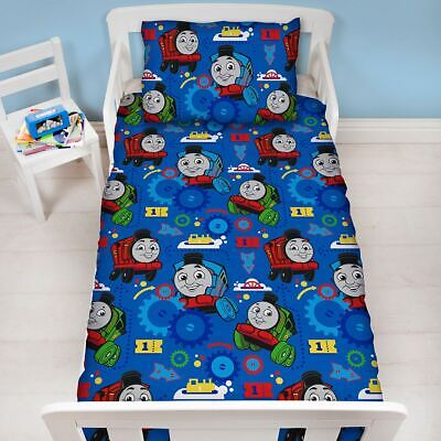 £12.99 • Buy Thomas And Friends Toddler Duvet Cover Set Cotbed Bedding Trains