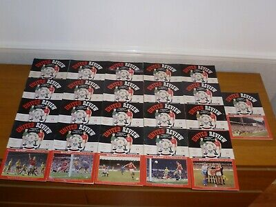 1991/92***9 Numbered Tokens Intact***21 Out 29 Manchester United Programmes • 11£