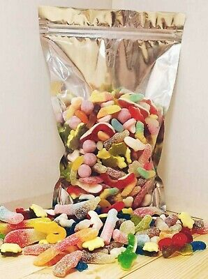 Pick N Mix Sweets Pouches Large Retro Fizzy Jelly Candy Birthday Gift Valentines • 11.99£