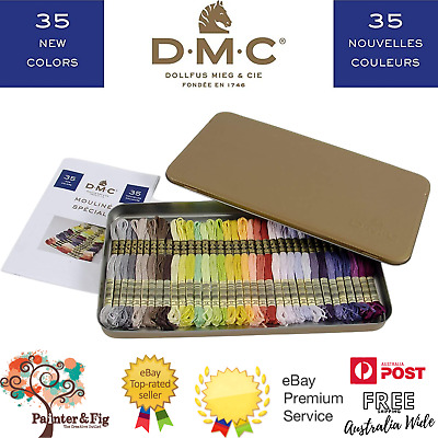 AU109.95 • Buy DMC Mouline Special Threads 35 Beautiful Skeins In Collectors Tin - Washable
