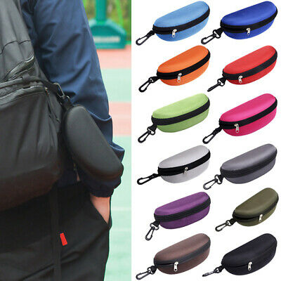 AU8.82 • Buy Portable Zipper Sunglasses Case Glasses Clam Shell Hard Protector Case Box Pouch