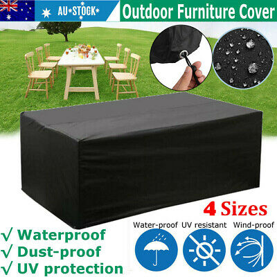 AU28.99 • Buy Heavy Duty Waterproof Garden Patio Furniture Cover For Rattan Table Cube Outdoor