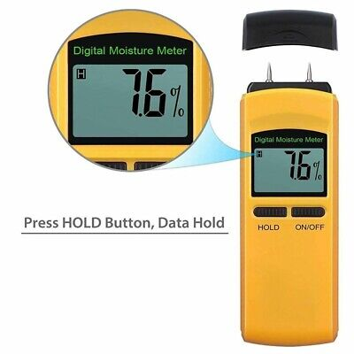 4 Pin Digital Moisture Meter Damp Detector Moisture Meter Humidity Wood Plaster • 13.21£
