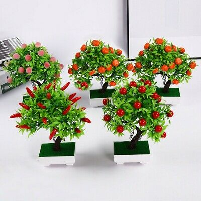 Artificial Potted Plant Fake Fruit Silk Flower Parties Offices Families Home Dec • 7.81£