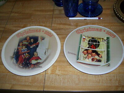 $ CDN7.02 • Buy Pair Of 2006 2009 Norman Rockwell Collector Plates