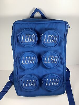 £17.02 • Buy LEGO Block 6 Brick Blue Kids Backpack With 6 Toy Storage And 1 Large Pocket