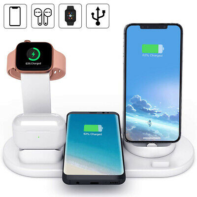 AU25.59 • Buy 4in1 Qi Wireless Charger Charging Dock Station Pad For IWatch IPhone 12Pro 11 XS