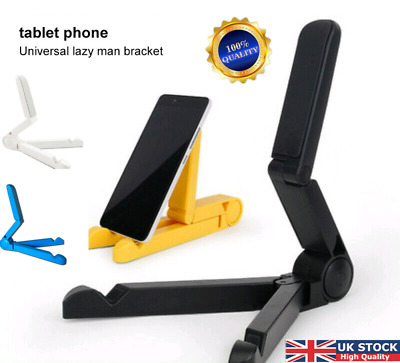 Mount Stand Folding Adjustable Desk Holders For Phones Galaxy Tablet IPad Air UK • 2.89£