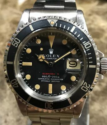 $ CDN66723.28 • Buy VINTAGE ROLEX RED SUBMARINER 1680 2,5M SERIAL Ca. 1970, UNPOLISHED PUNCHED SET