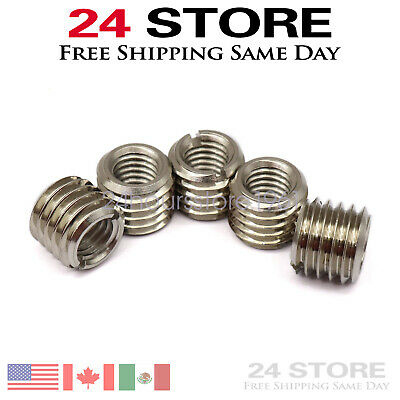 $11.25 • Buy 5 X THREAD ADAPTERS – M12 MALE TO M8 FEMALE - THREADED REDUCERS