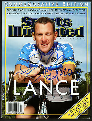£108.35 • Buy Lance Armstrong Authentic Autographed Signed Sports Illustrated Beckett A28320