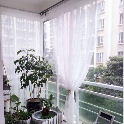 Lace Curtain Home Bedroom Window Voile Sheer Curtains Valance Curtains Decor SPM • 6.23£