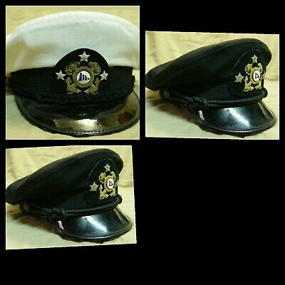 Skipper's Yachting Hat White Replica Cap Black And White Colour Choose One  • 42.42£