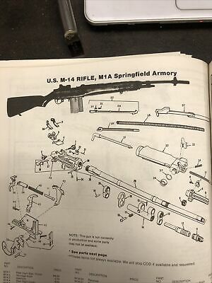 $35 • Buy Exploded View US M-1 Rifle M1A Springfield Armory