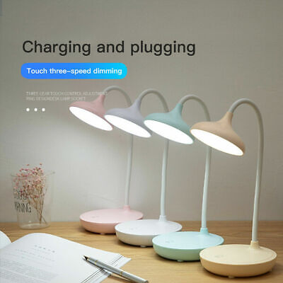 LED Dimmable Reading Desk Lamp Flexible Touch Bedside Table Study Night Light UK • 4.58£
