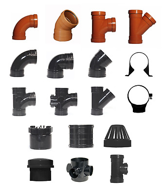 110mm Bend, Branch, Knuckle, Branch, Cap, Coupling, Cowl, Valve Pipe Fittings  • 9.69£