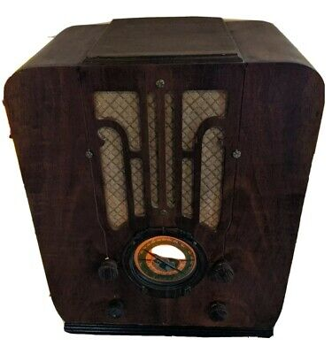 $ CDN380.61 • Buy 1935 Silvertone Tombstone Radio Model 1906 Tested Partial Restoration Rare Wood