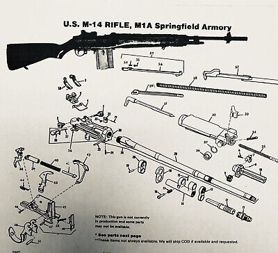 $35 • Buy Exploded View US M-14 Rifle, M1A Springfield Armory
